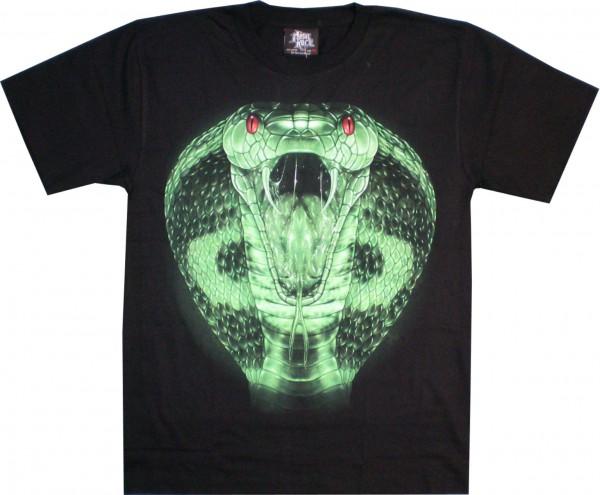 T-Shirt - Schlangenkopf - Glow in the dark