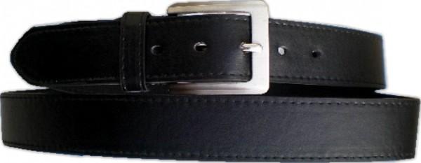 KGL 2125 - Gürtel / Kunstledergürtel / PU-Gürtel gemustert in 3,8 cm, schwarz