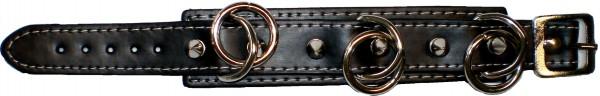 NAB 1821 - Nieten-Armband - Punk - Gothic - mit Ringen + Killernieten