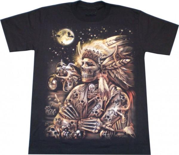 T-Shirt - Indianer - Glow in the dark