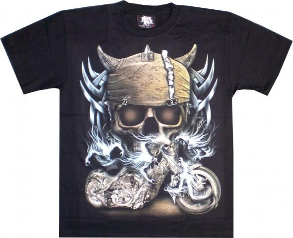 T-Shirt - Skull und Bke - Glow in the dark